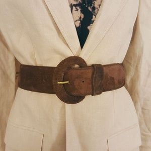 All Week Long Suede Wide Waist Cinch Belt Sz. L